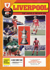 Newcastle FA Cup 1984 programme