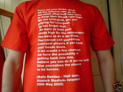 Rafa T-shirt half-time teamtalk tshirt benitez